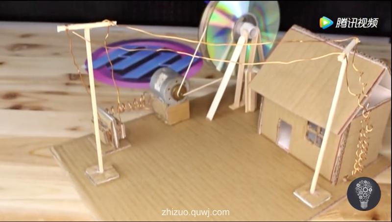 科技小制作视频:手摇式发电机