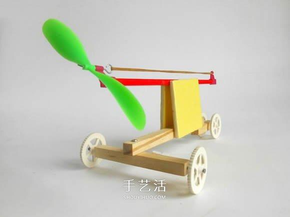 科技小制作:橡皮筋动力小车