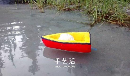 科技小制作:气球动力船
