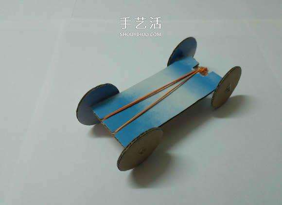 科技小制作:橡皮筋动力车