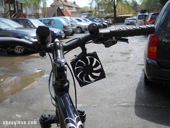 科技小制作:风力充电器,边骑车边充电
